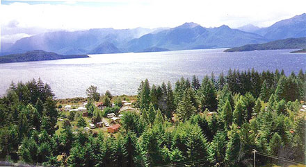 Aerial view of Manapouri Motels and Motor Park