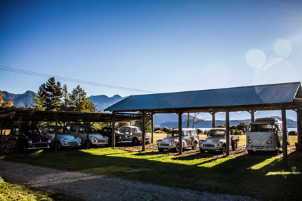 Manapouri Motels' collection of vintage cars