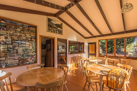 Manapouri Motor Park dining room